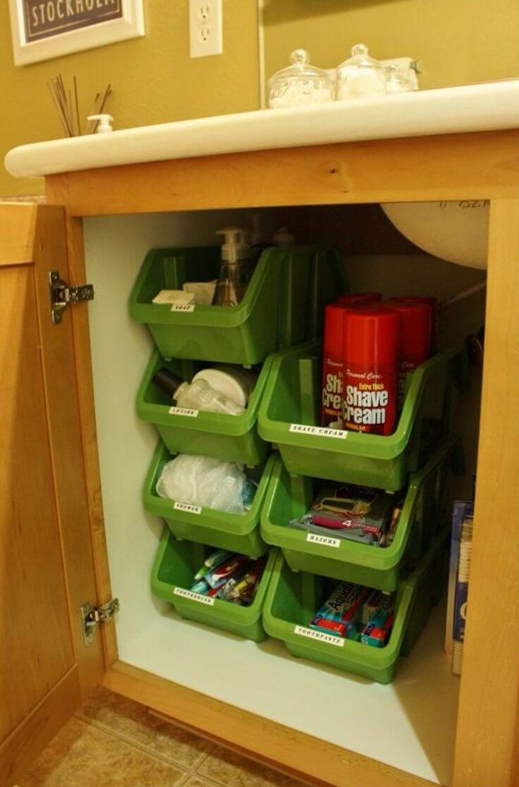 Under Counter Bathroom Nesting Bins