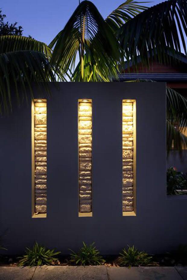 Bold Lighting on the Wall