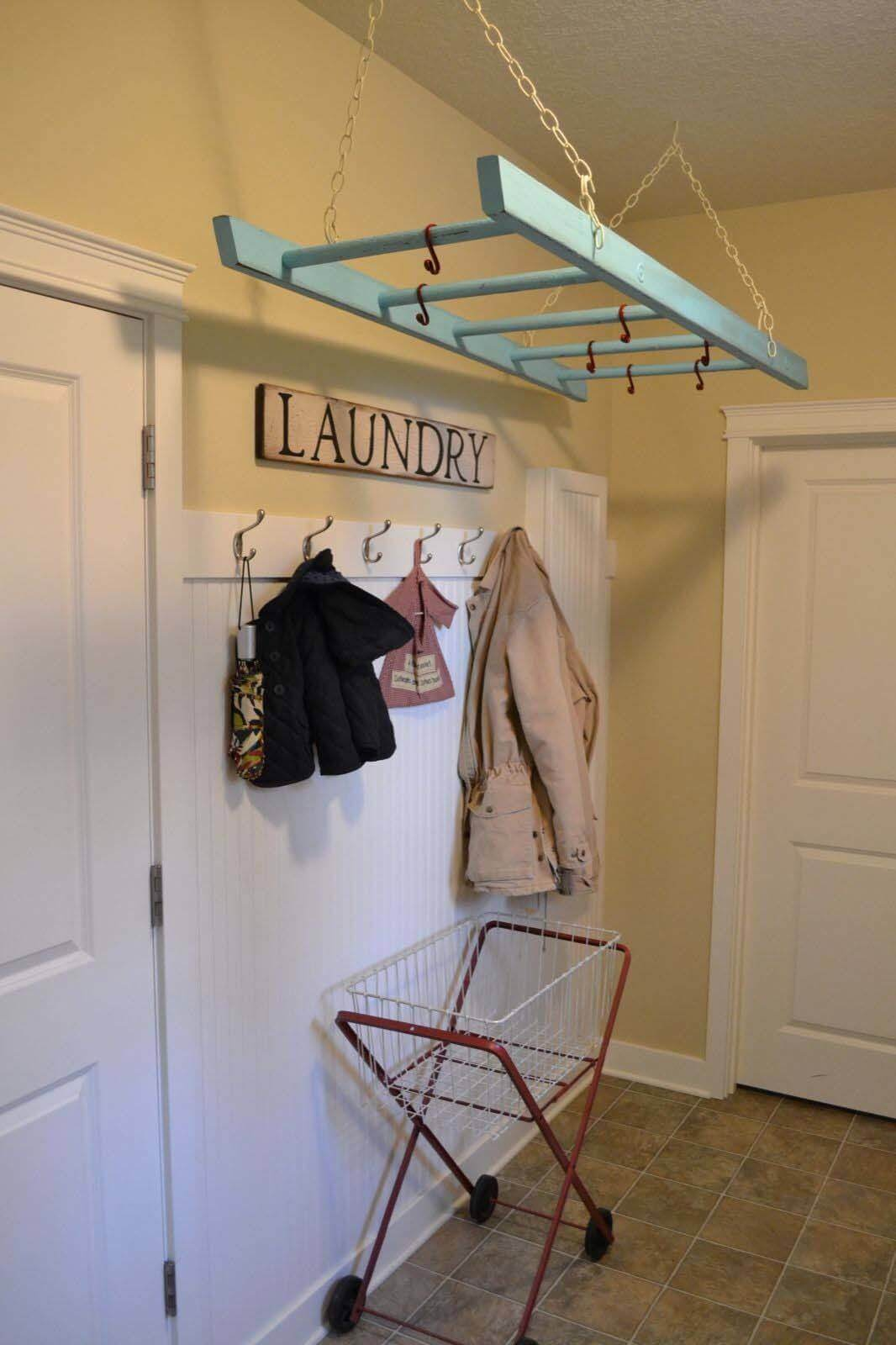 Clever Ceiling Mounted Coat Rack