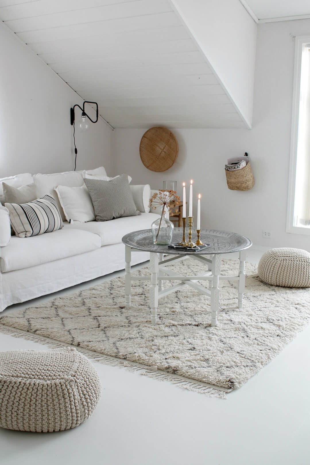Elegant Room with Basket Accents