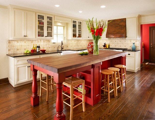 Red Kitchen Island Decoration Tip