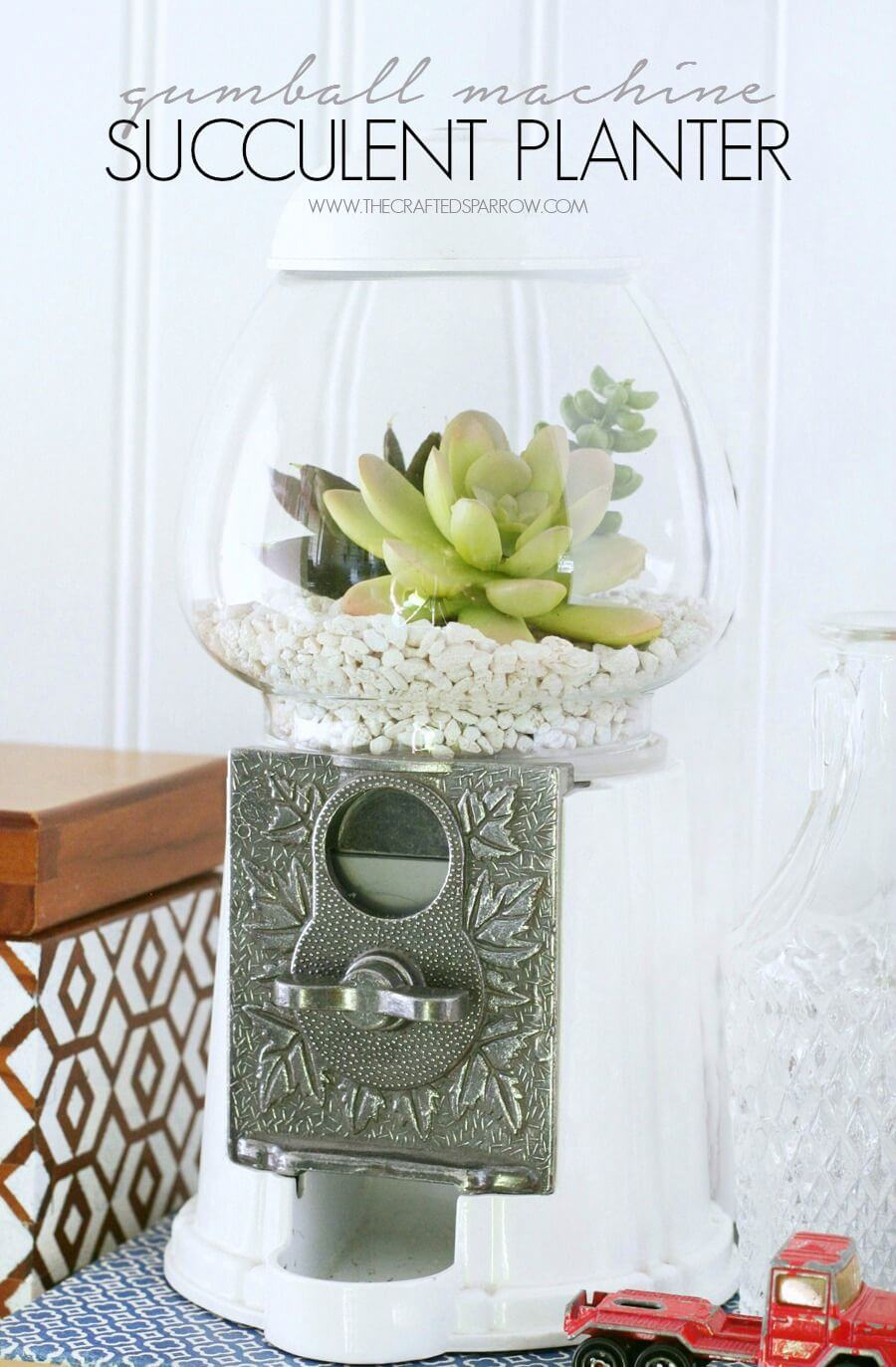 Whimsical Gumball Machine Succulent Planter
