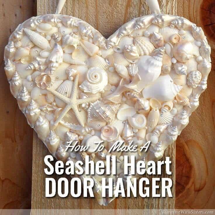Door Hanger Heart with Shining Seashells