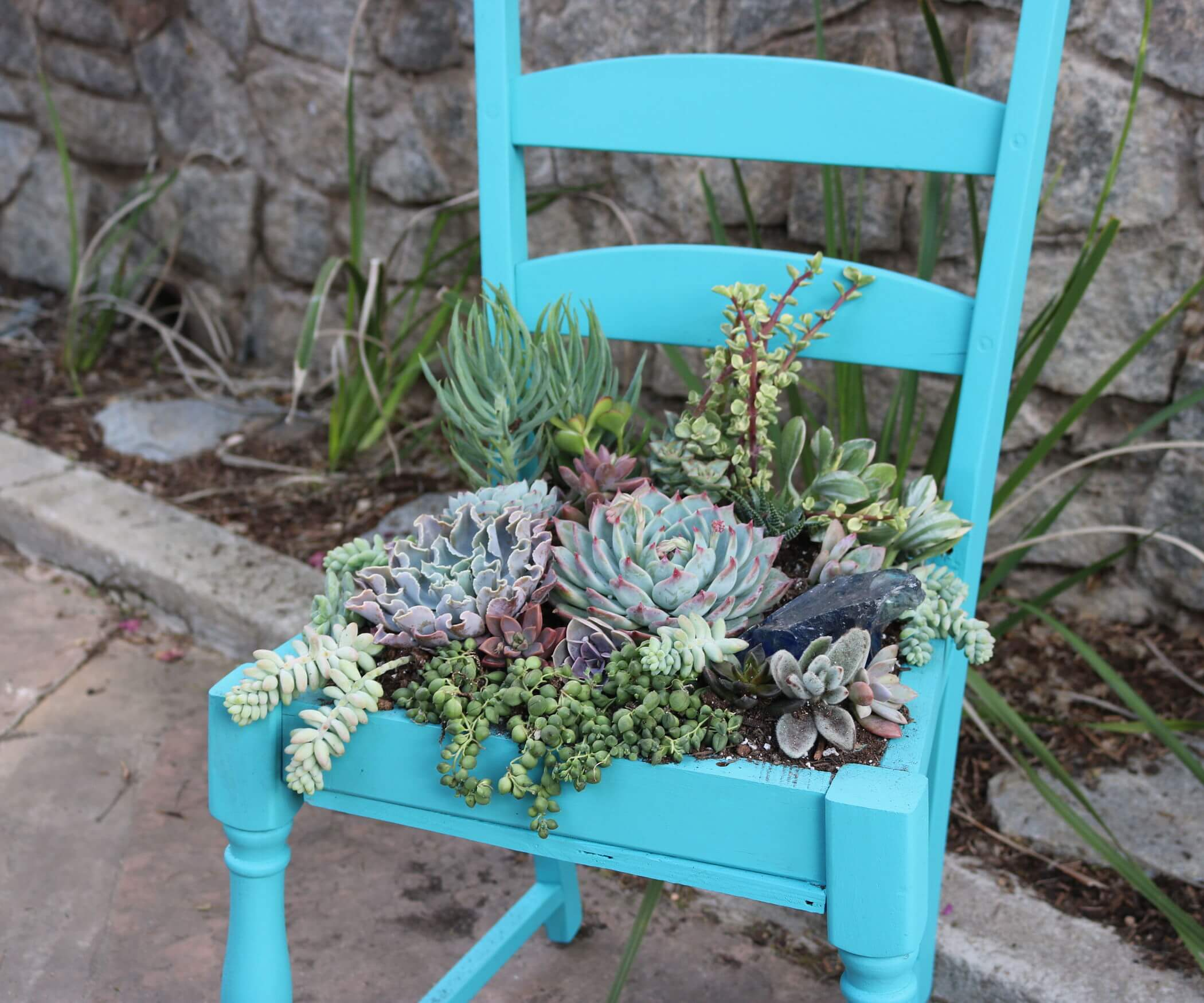 Give a Succulent Garden Its Own Seat