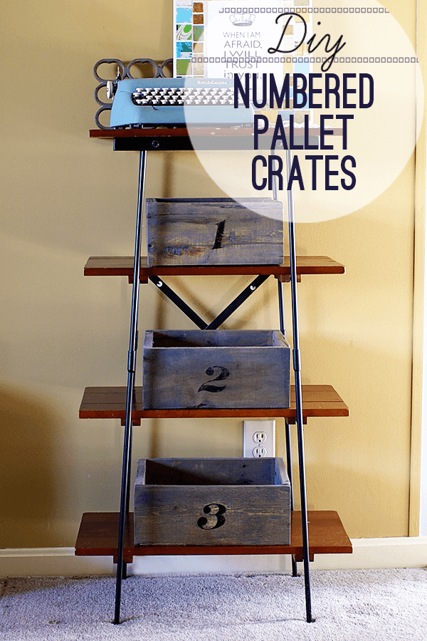 Rustic Numbered Pallet Organizer Crates
