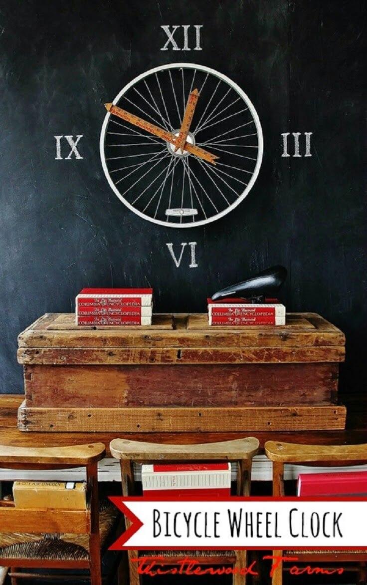 Bespoke Bicycle Wheel Chalkboard Craft