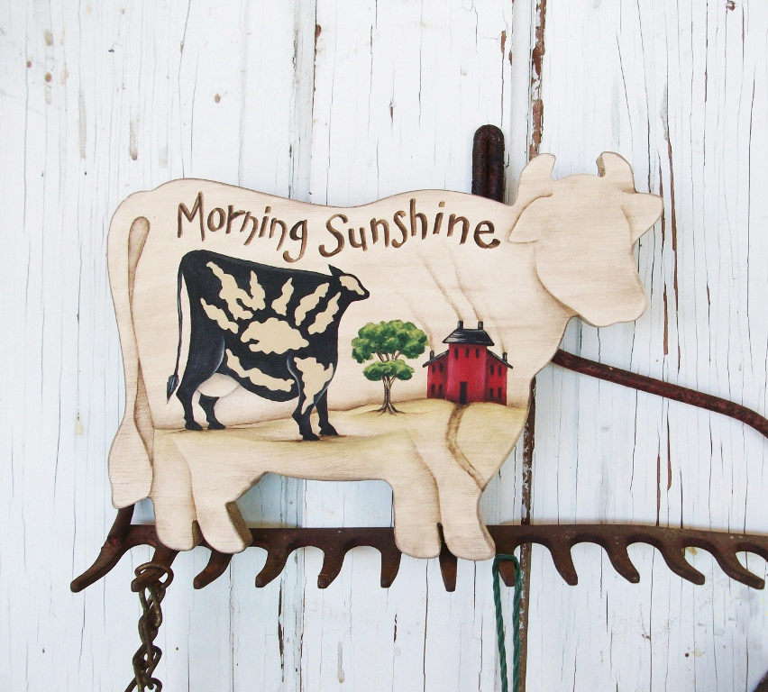 Morning Sunshine Cow Sign