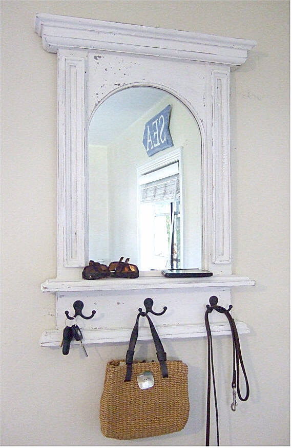 Mud Room Coat Rack and Rustic Mirror
