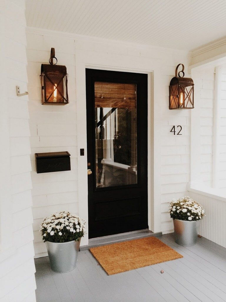 Minimalist Black Front Door