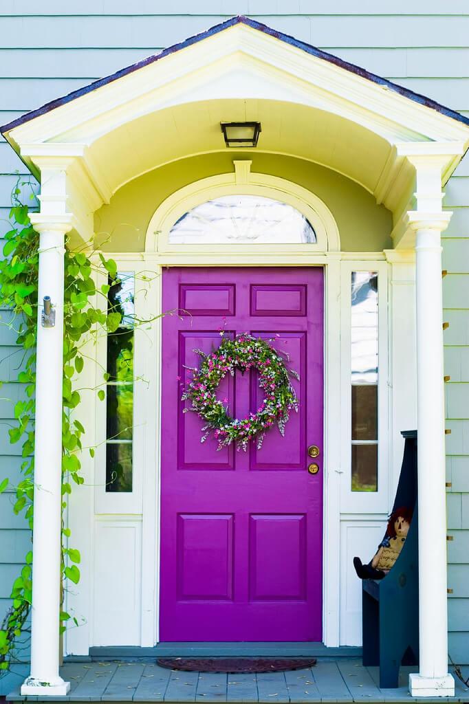 Cool Purple Front Door