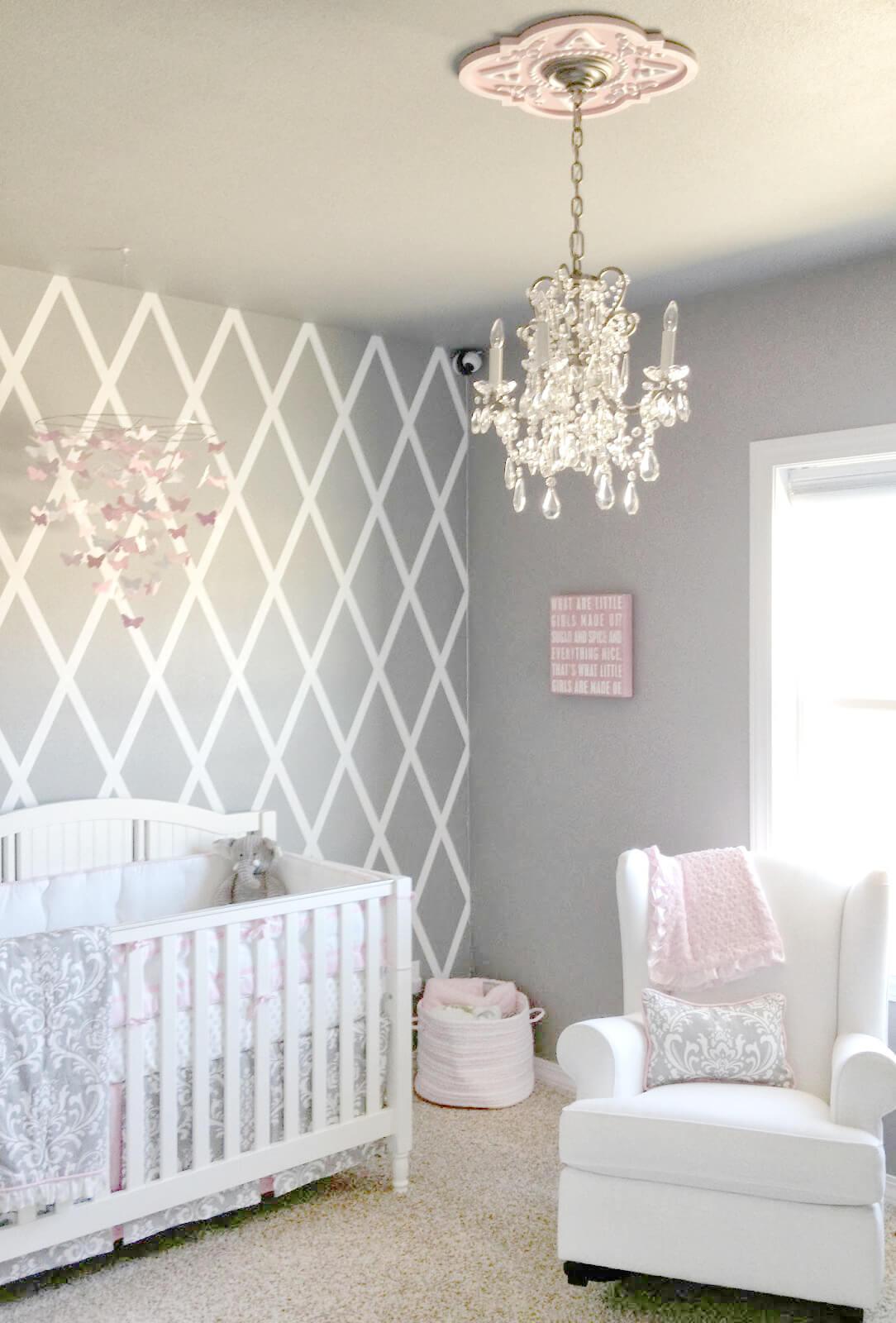 Add a Pretty Chandelier for Nursery Chic