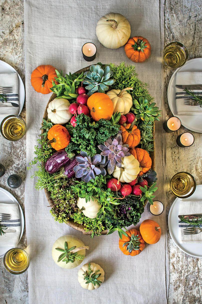 Pumpkin Overflow Highlights Colorful Centerpiece