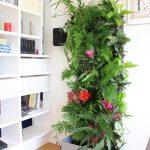 29-tropical-plants-create-a-wall-of-color-vertical-garden-idea-homebnc