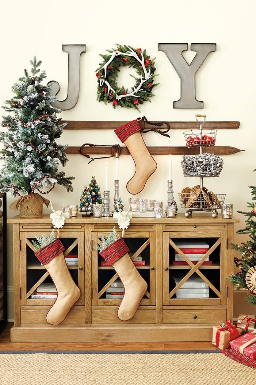Stockings and a Small Christmas Tree