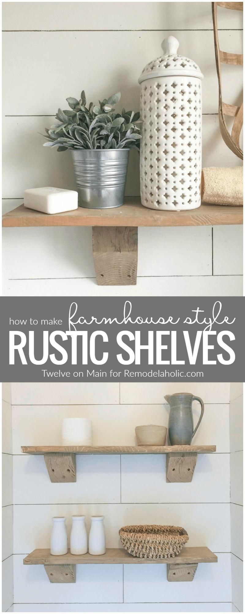 Rustic Driftwood Free Hanging Shelves