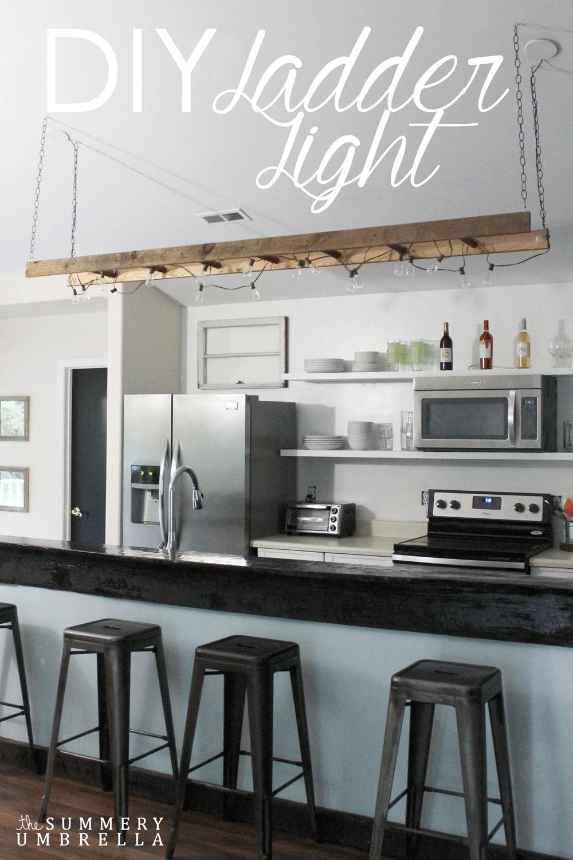 Make a Ladder into Hanging Lighting