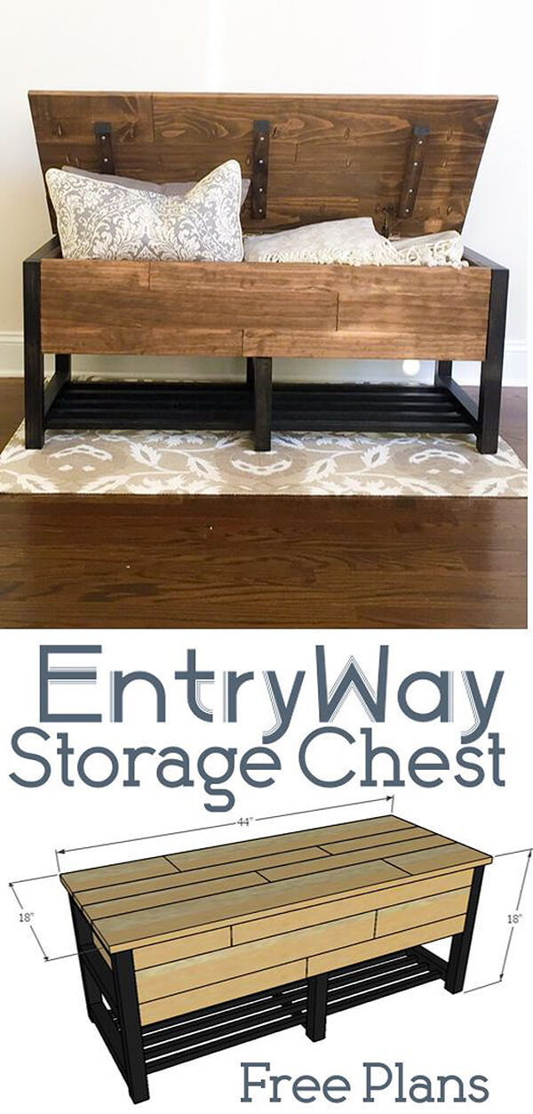 Entry Way Storage Chest Project