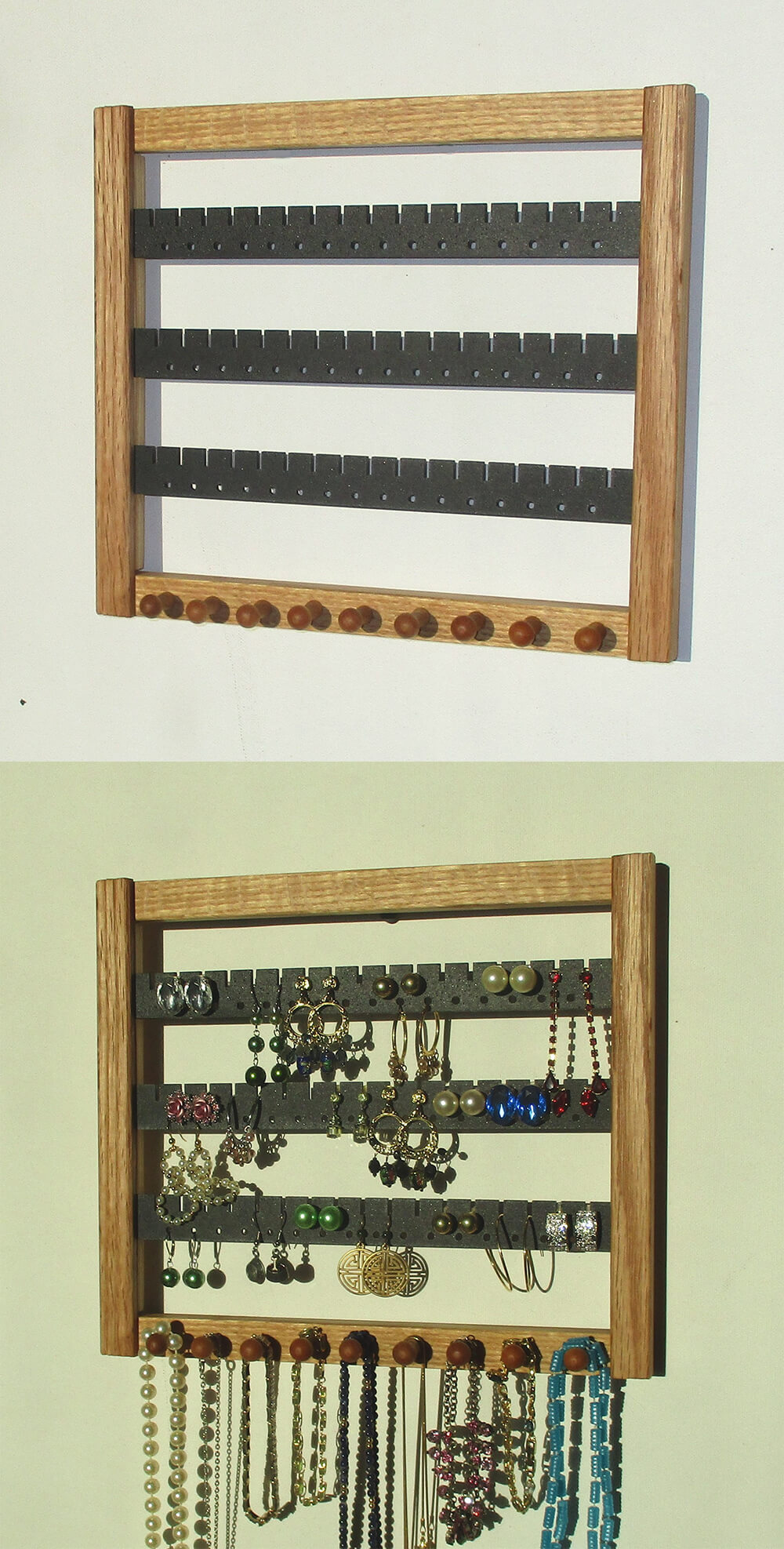 Simple Jewelry Arranger with Metal and Knobs