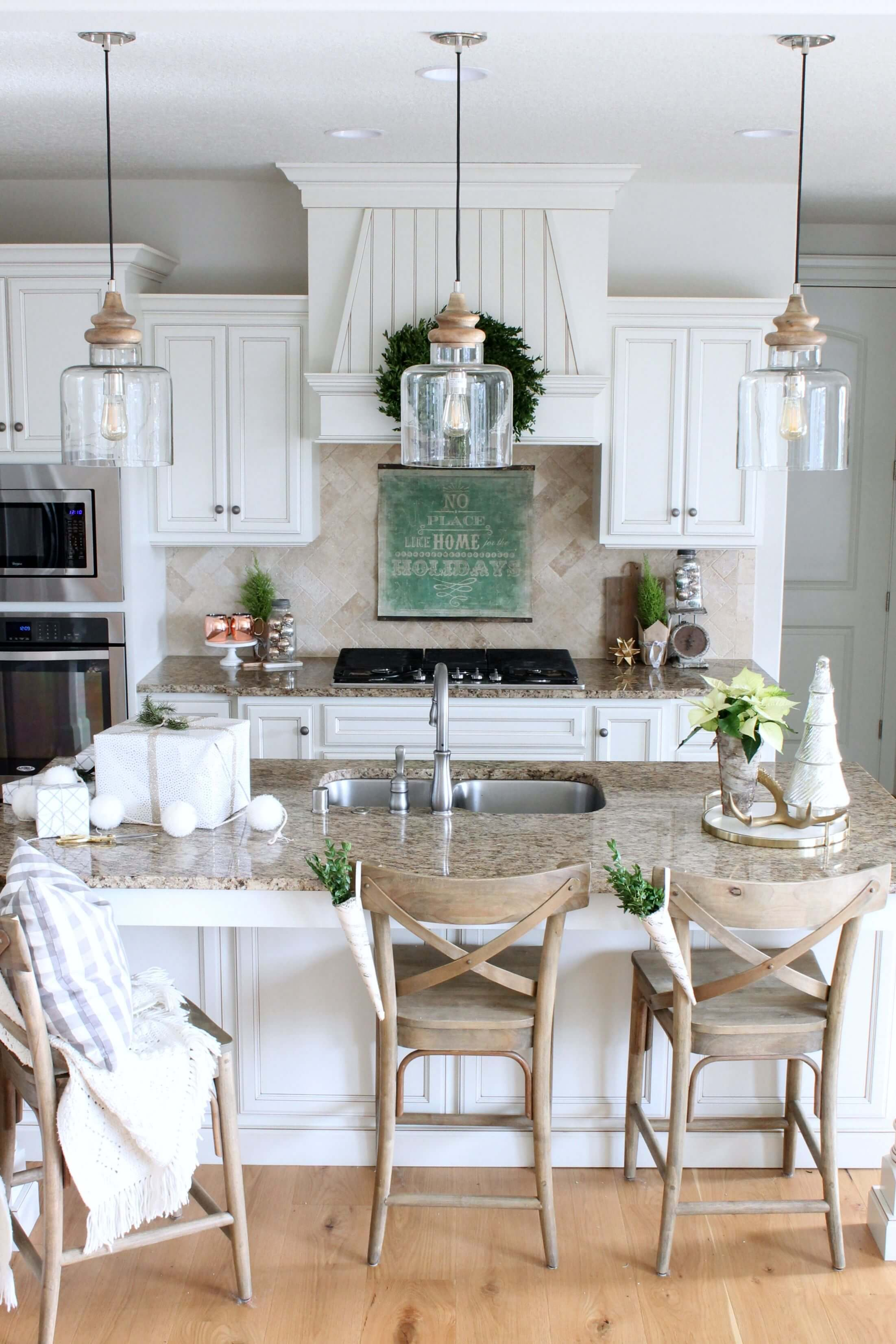 Classic White Cabinets with Beveled Edges