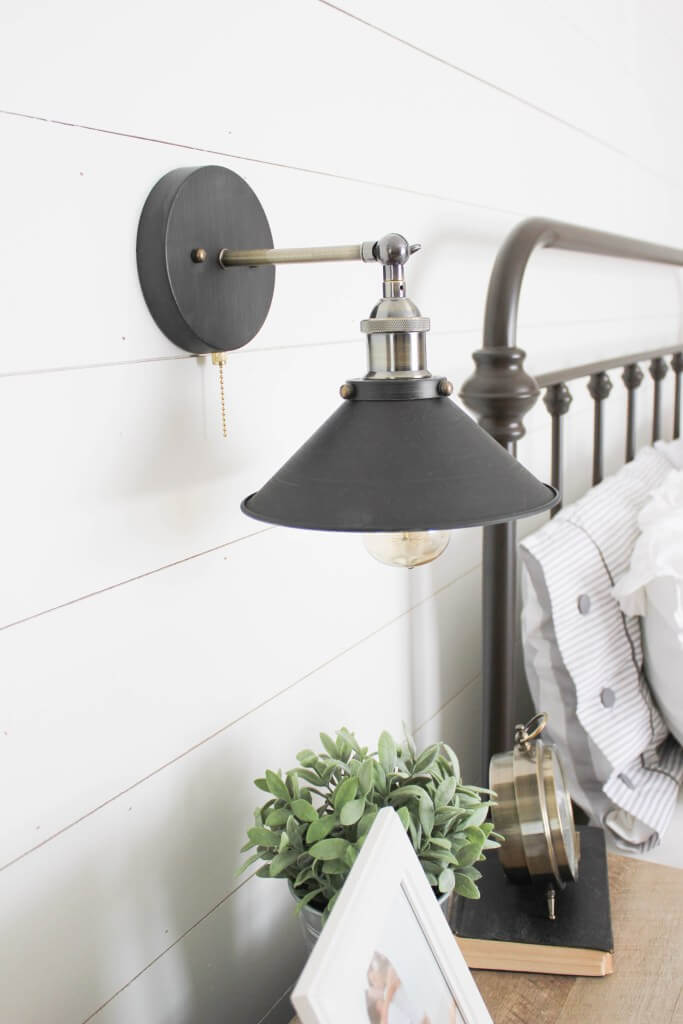 Brushed Black and Silver Wall Sconce