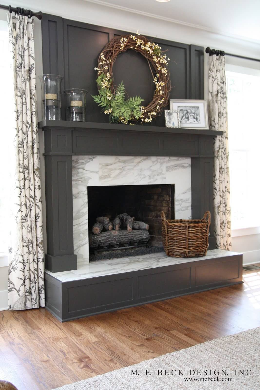 Marble Surround and Dark Grey Anchor Space