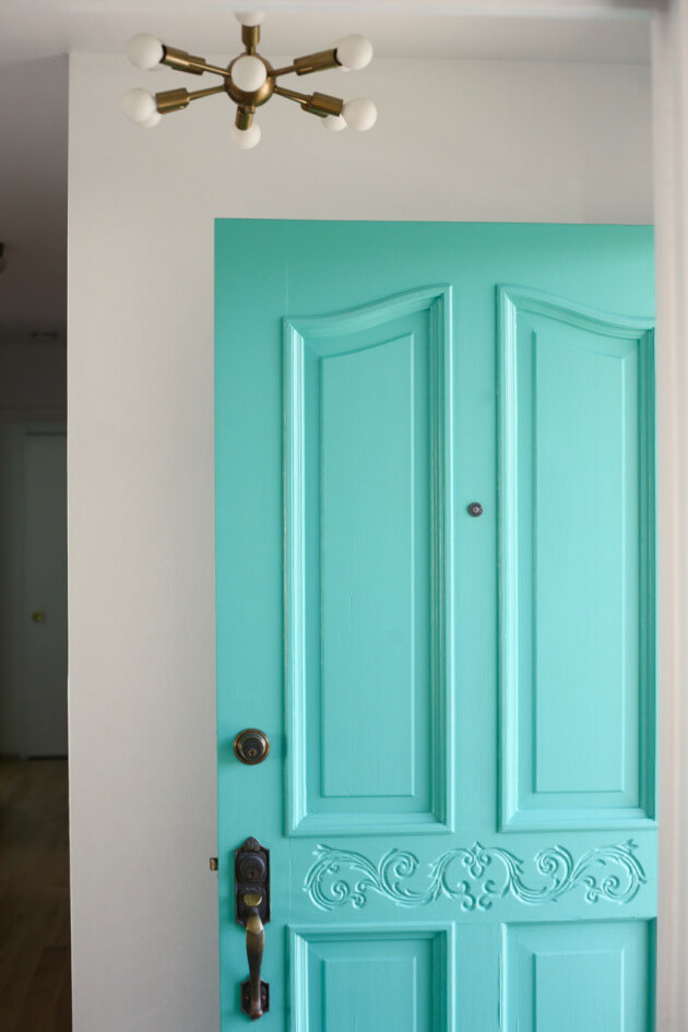 Porch Freshness with Turquoise Door