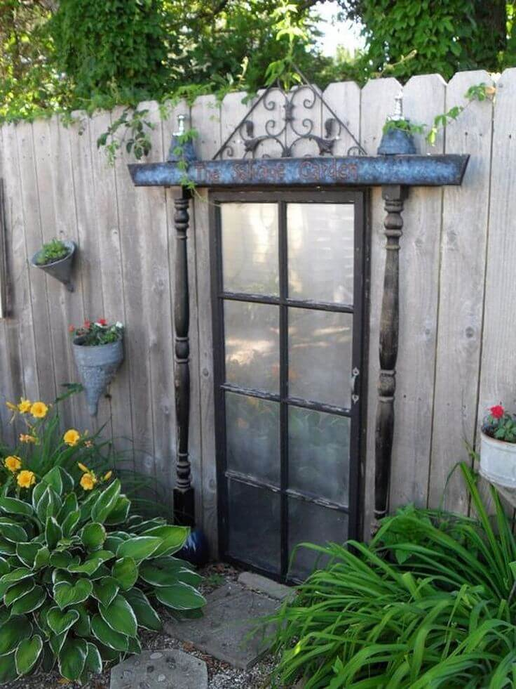 Mirrored Door with Metal Lintel