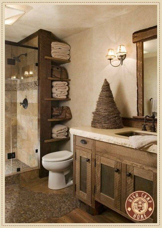 Elegant Lodge Inspired Bathroom