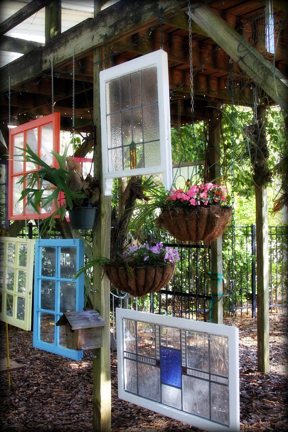 Hang Assorted Frames Under your Deck