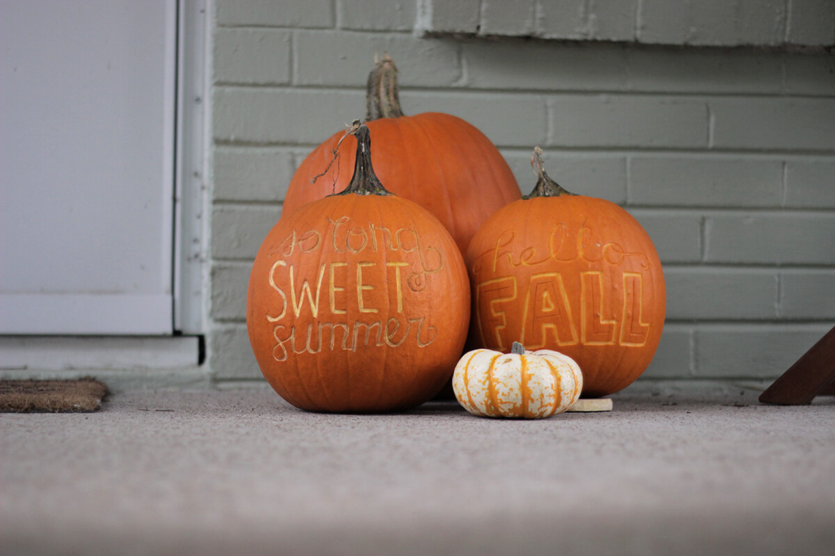 Writing On The Pumpkin