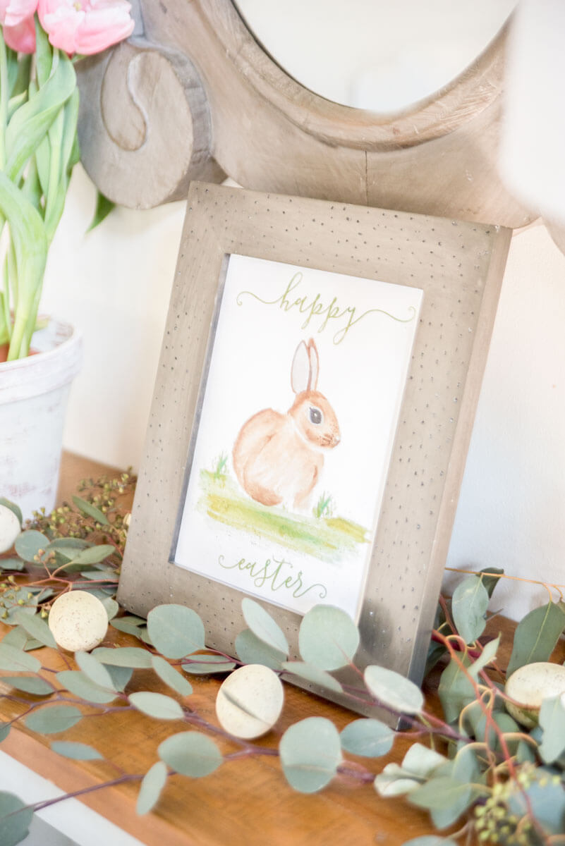 Framed Easter Printable and Greenery