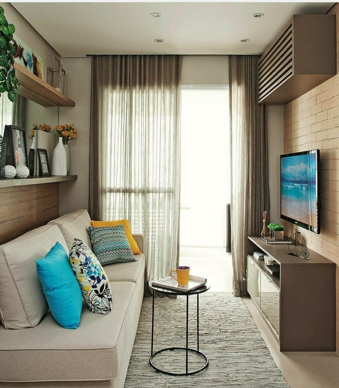 Tall Curtains Bring Height to the Room