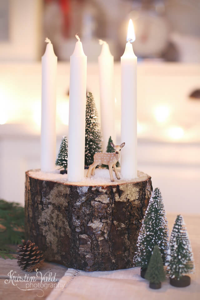 Forest Scene Candle Diorama
