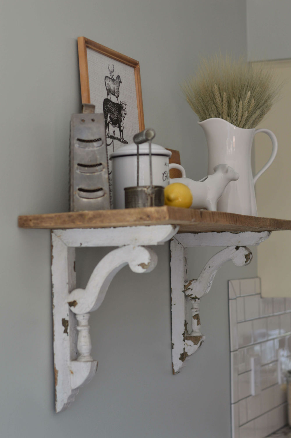 Instant Shelf with Corbels and Board