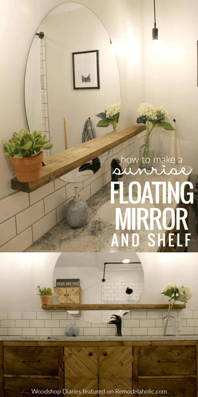 Luxury Lagoon Floating Mirror and Shelf