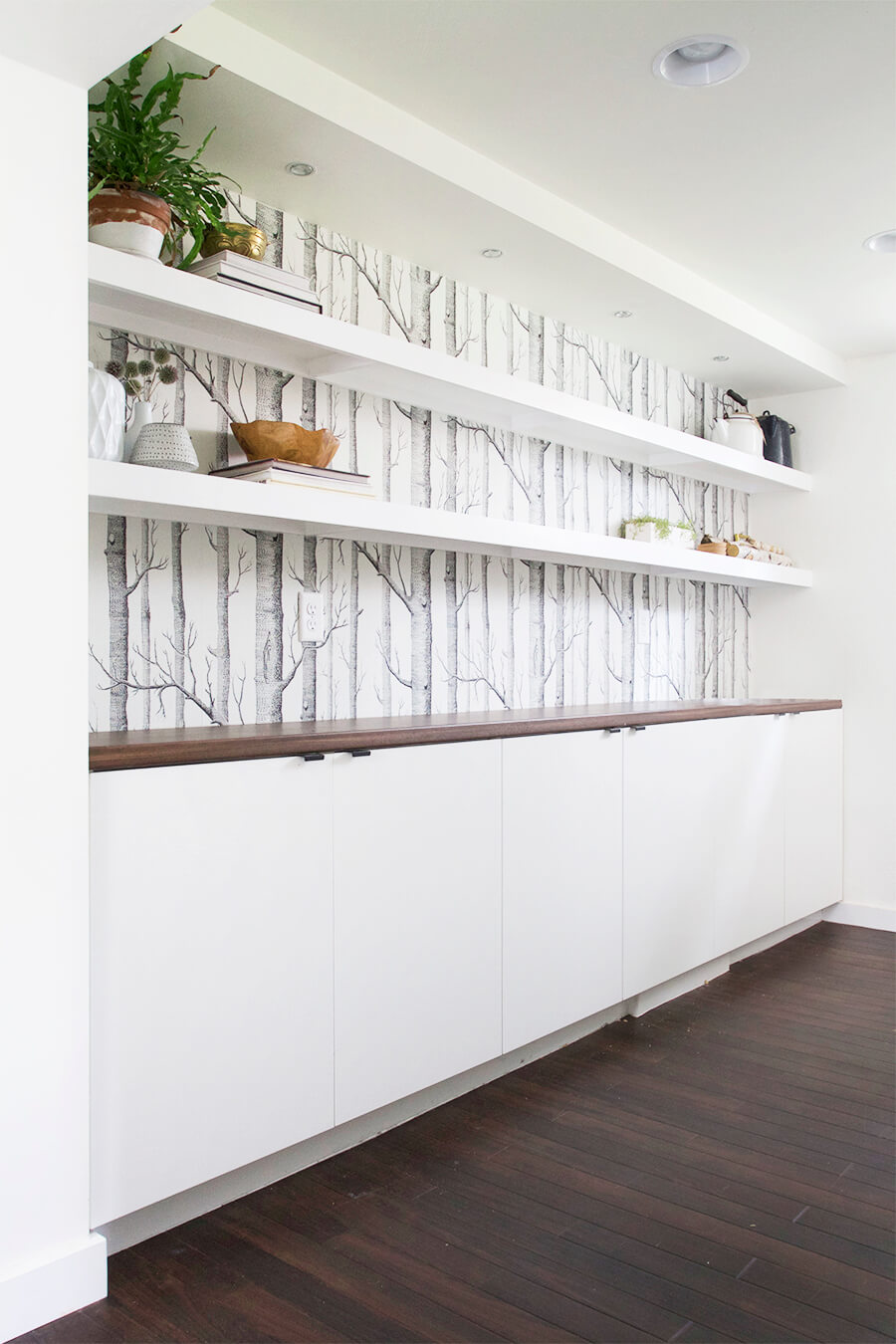 Bright and White Wall Storage