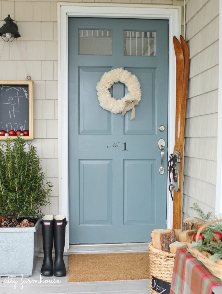 Send Away The Blues Front Door Idea