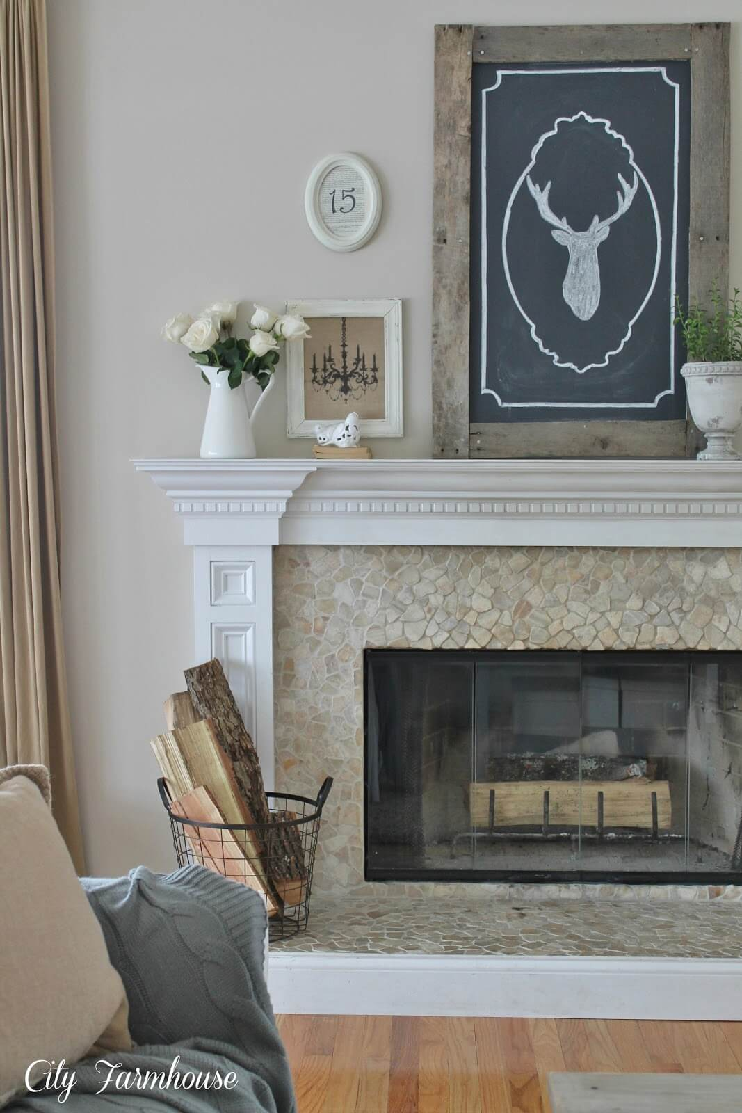 Elegant Provincial Country Fireplace Mantle