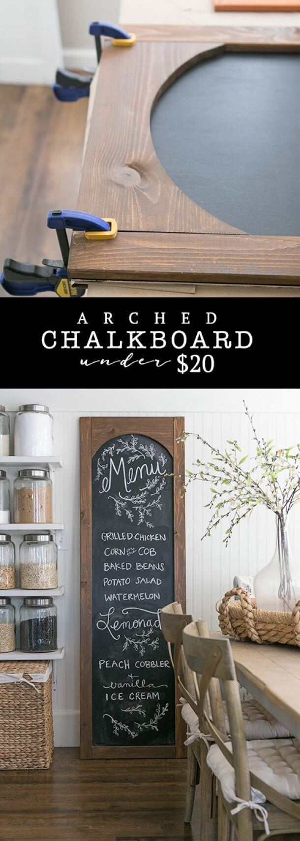 Cheap and Easy DIY Arched Chalkboard