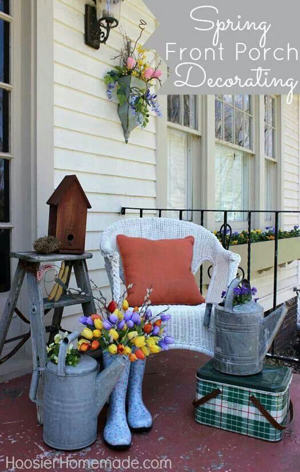 Wellies Bouquet and Galvanized Watering Can Vases