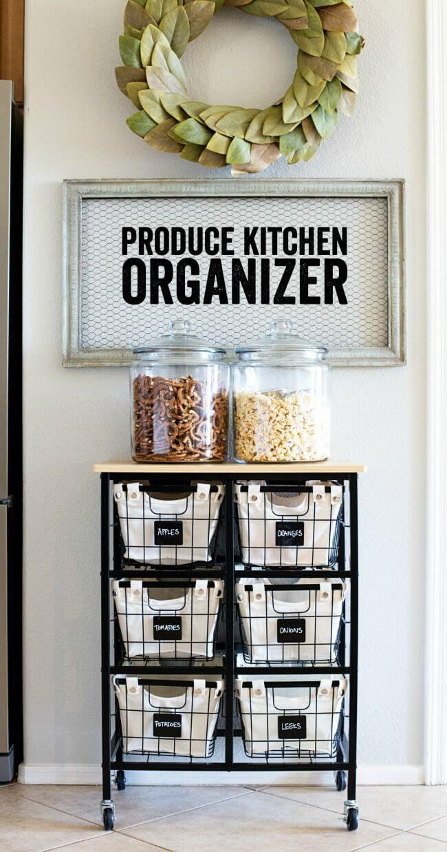 A Kitchen Cart for Produce and Snacks