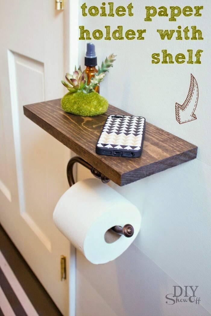 Prim-And-Proper Toilet Paper Holder And Shelf