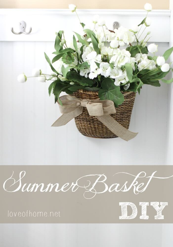 Little Flower Basket Hung on a Hook