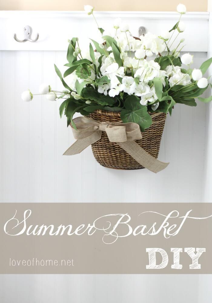 Little Flower Basket Hung on a Hook