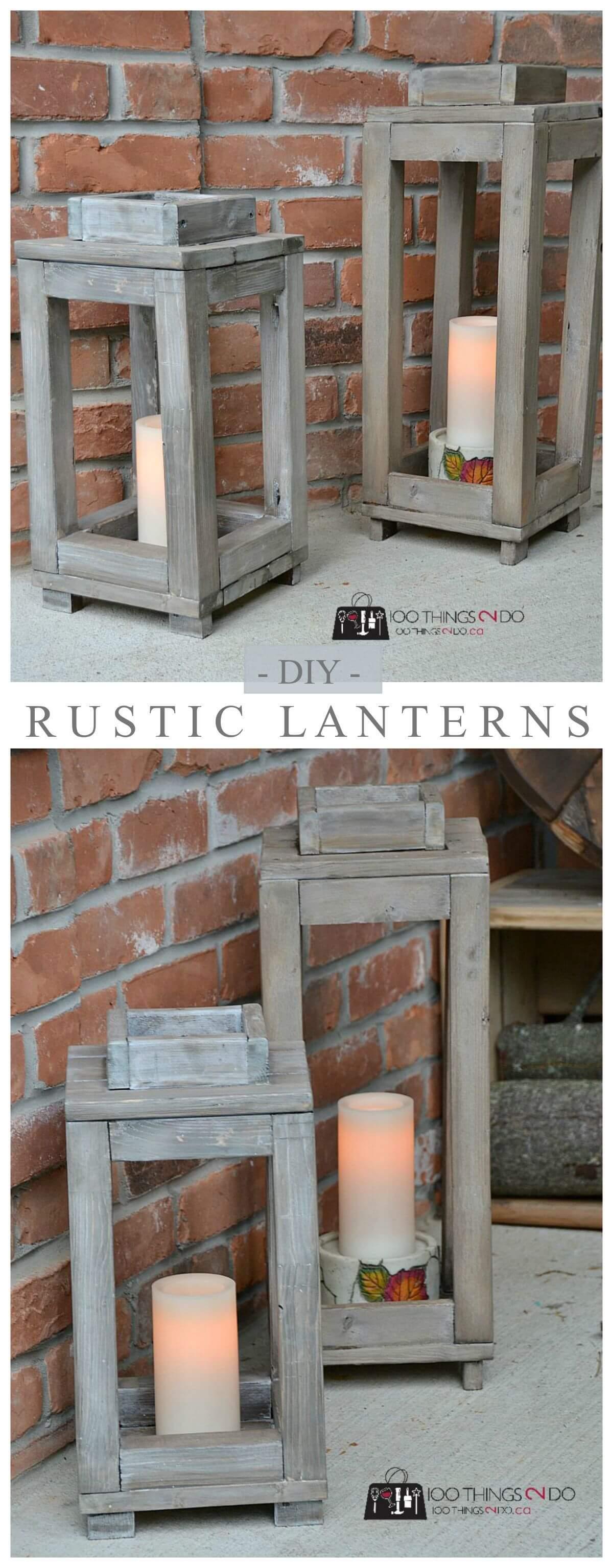 Barn Wood Terrarium Garden Lanterns