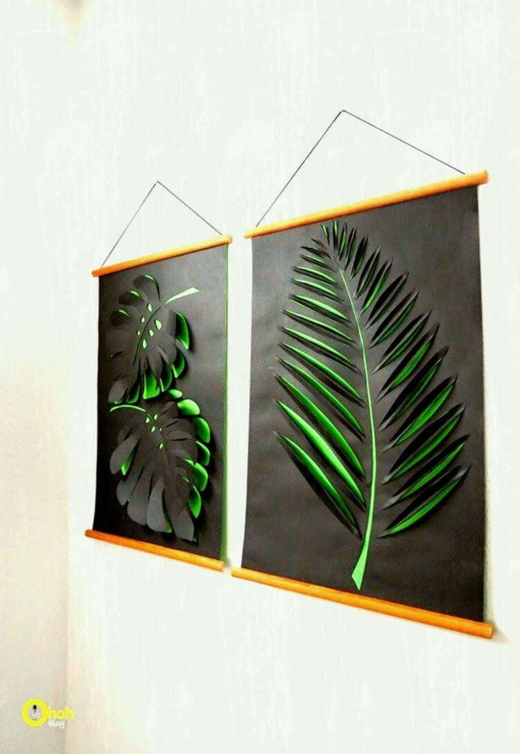 Cut Out Paper Leaf Art