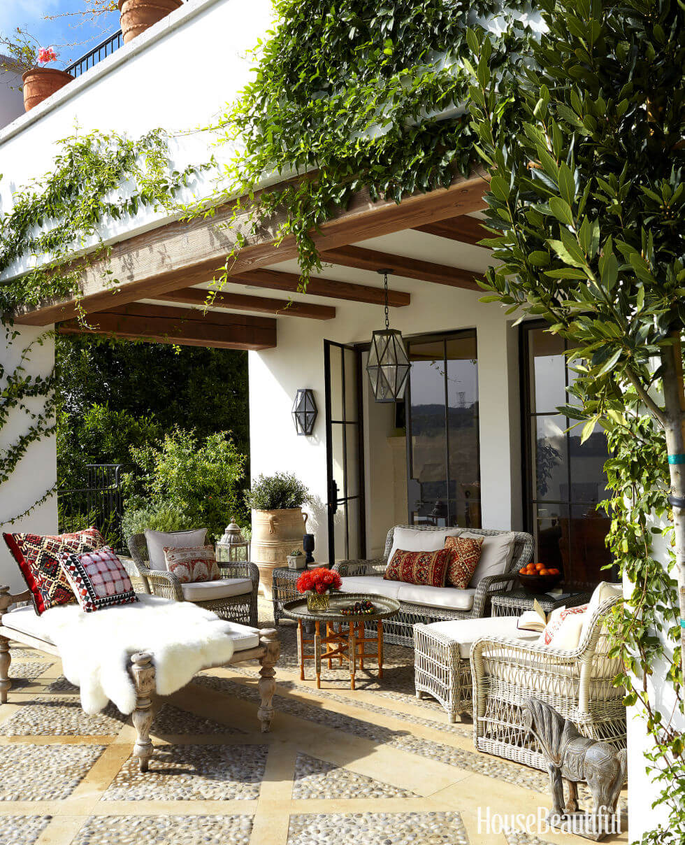 Shady Porch with Moroccan Prints