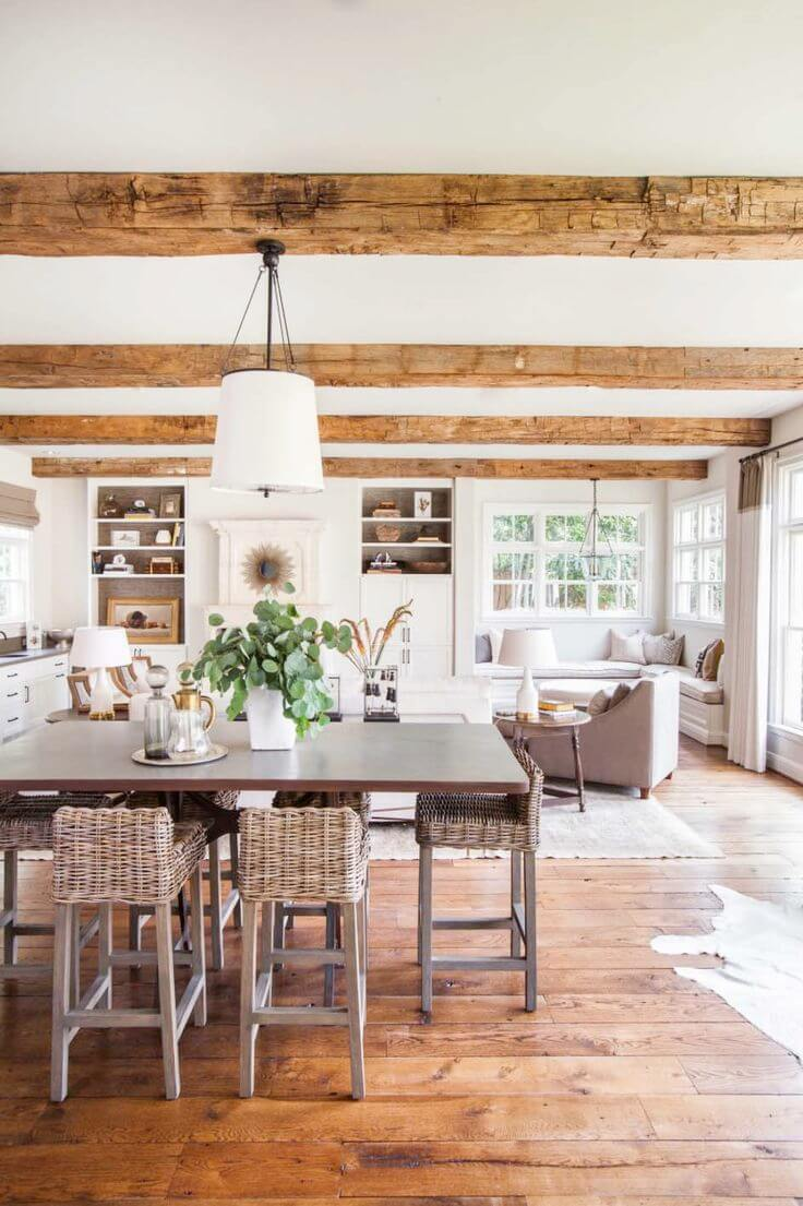 Open Floor Plan with Exposed Beams