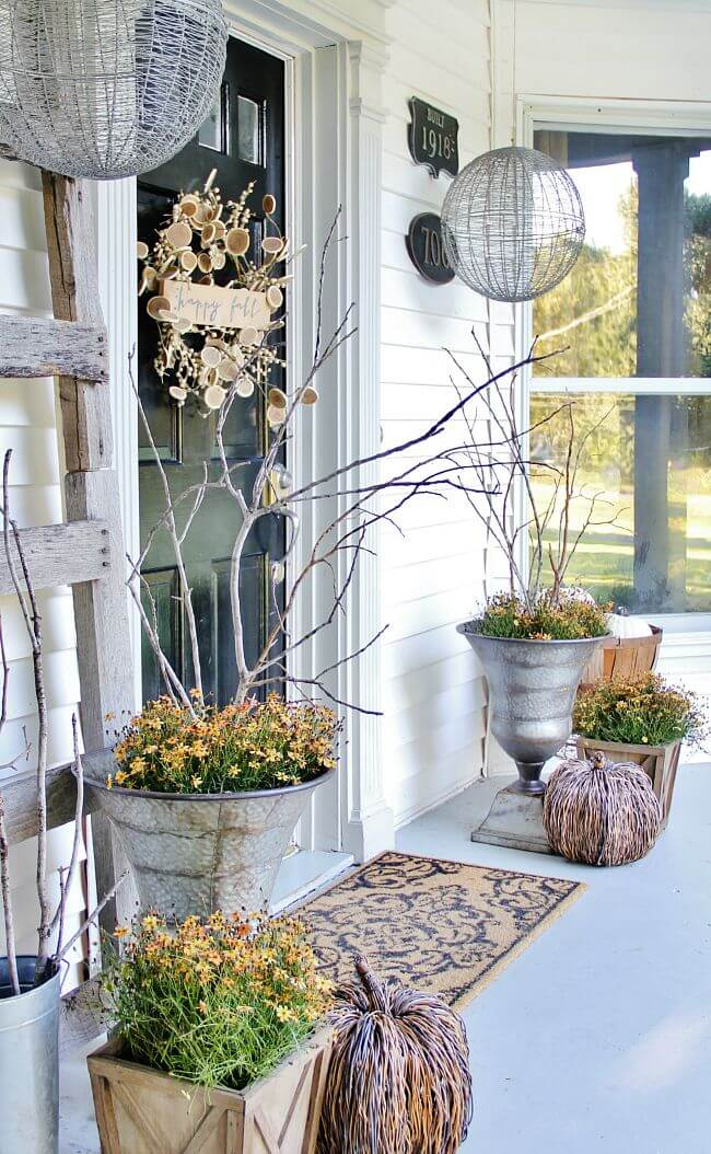 Gossamer Fall Silver Porch Urns & Display Domes