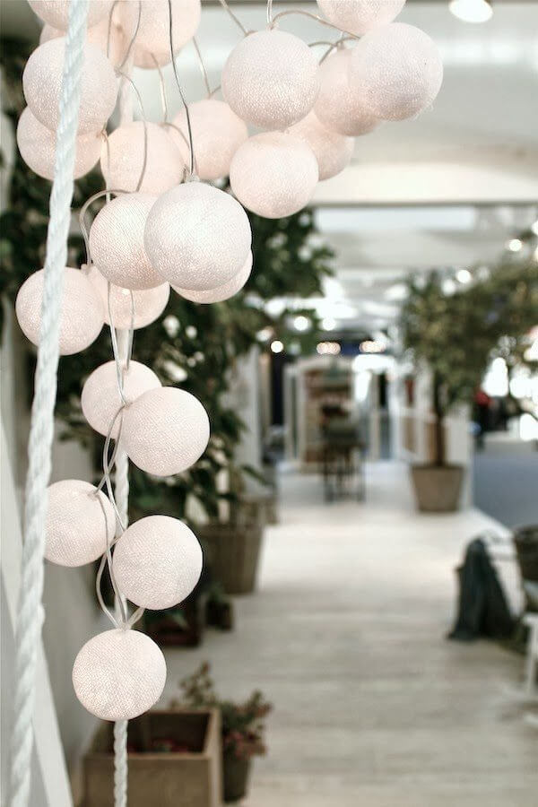 Light Begets Light with Illuminated Fabric Bulbs